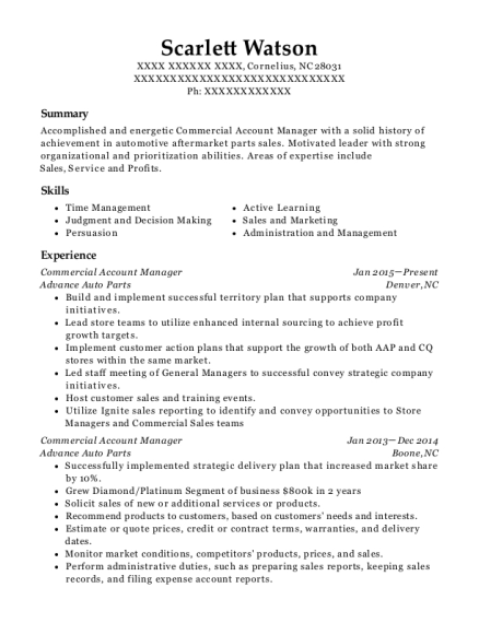 Just Energy Llc Commercial Account Manager Resume Sample - Houston ...