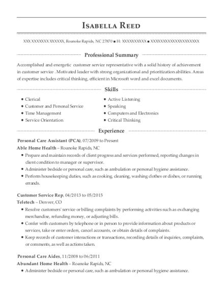 pca resume