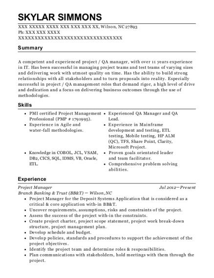 view resume - Qa Lead Resume