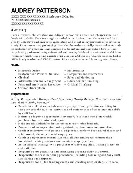Best Assistant Banquet Manager Resumes | ResumeHelp