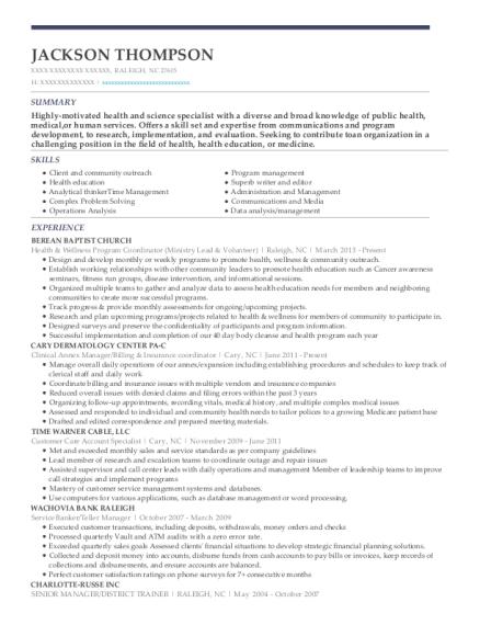 Best Clinical Annex Manager/billing U0026 Insurance Coordinator Resumes    ResumeHelp