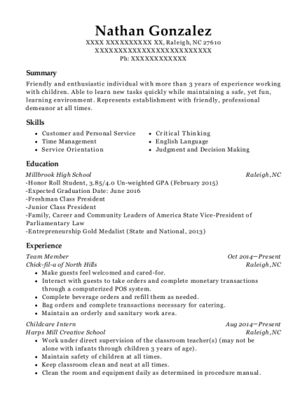 sunday school teacher resume