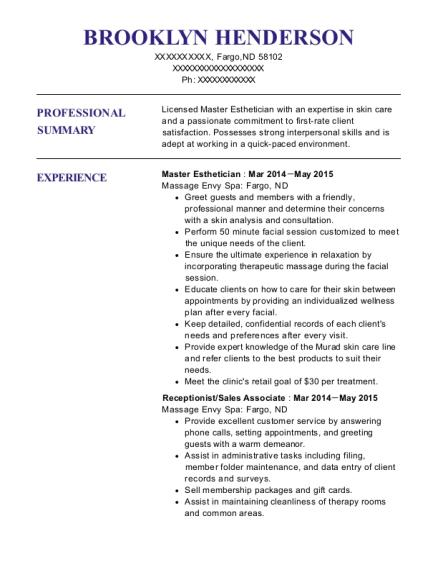 dr estabon divince master esthetician resume sample