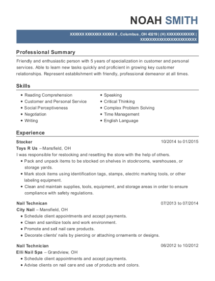 Walmart Stocker Resume Sample
