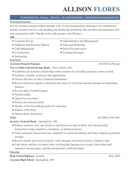 Assistant Branch Manager Basketball Coach Customize Resume View
