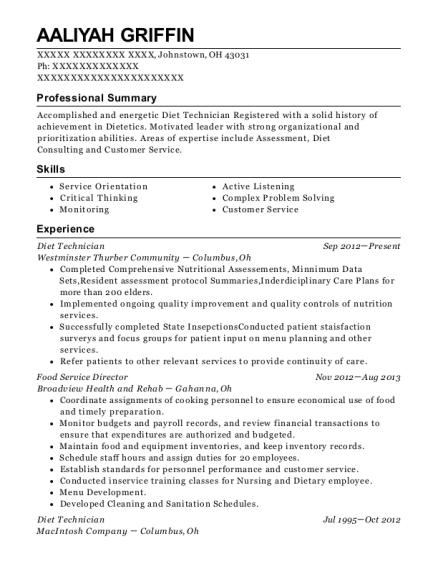 Food Service Director Resume | Best Food Service Director Resumes Resumehelp