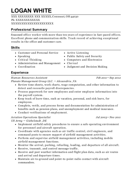 Aviation Operations Specialist , Operations Manager. Customize Resume ·  View Resume