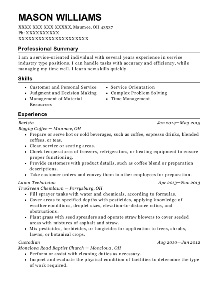 Security Guards , Lawn Technician. Customize Resume · View Resume
