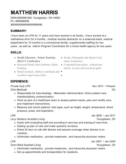 Best Private Duty Lpn Resumes | ResumeHelp