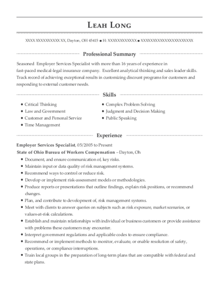 leah long - Parts Manager Resume