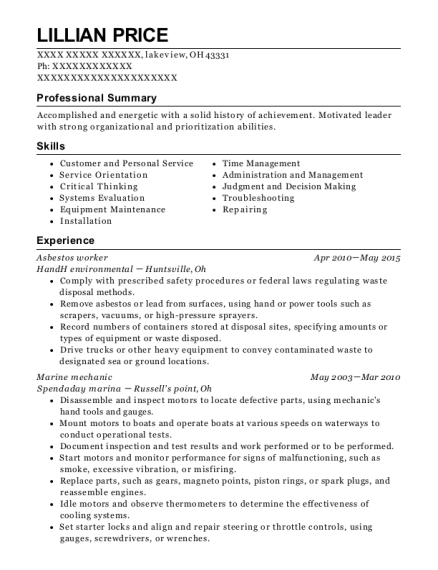Great Line Cook , Asbestos Worker. Customize Resume · View Resume