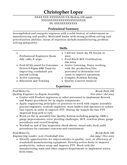 Best Environmental Engineer Resumes | ResumeHelp