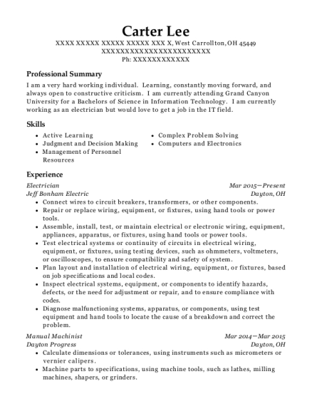 Conroe Machine Manual Machinist Resume Sample Odessa Texas