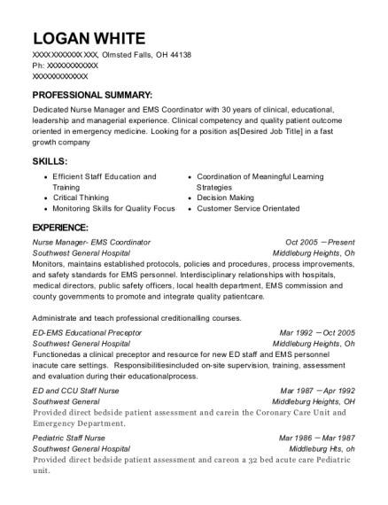 best ed ems educational preceptor resumes resumehelp