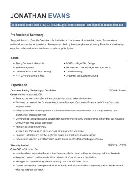 jonathan evans - Lowe Customer Service Associate Sample Resume