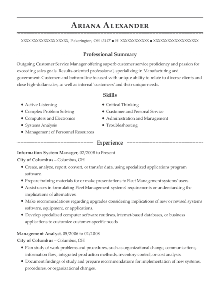 View Resume. Information System Manager