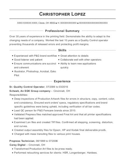 Best Prepress Technician Resumes Resumehelp