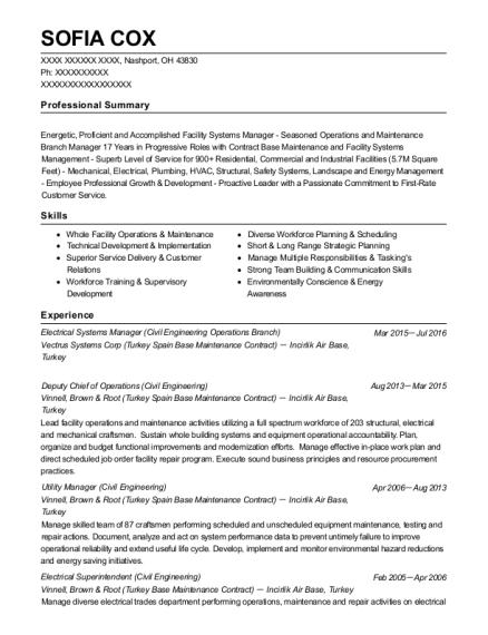 Best Utility Manager Resumes | ResumeHelp