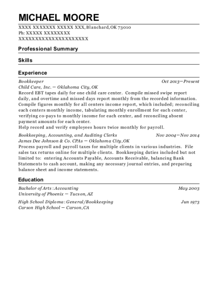 Best Self Employed Bookkeeper Resumes Resumehelp