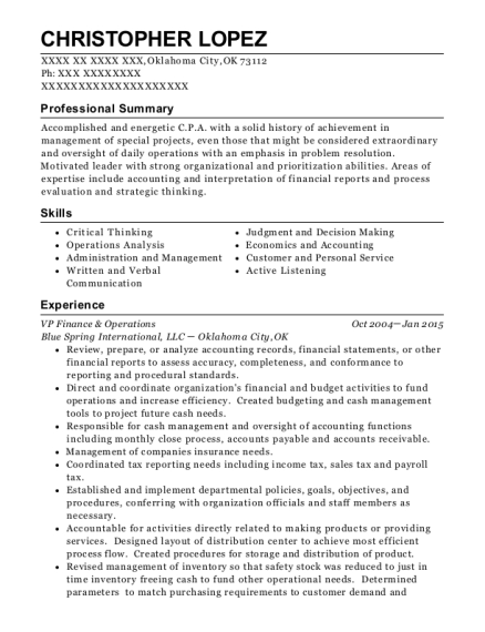 Best Tax Manager Resumes ResumeHelp - Resume examples for tax manager