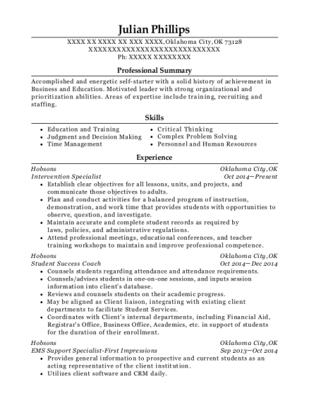 ... Intervention Specialist. Customize Resume · View Resume