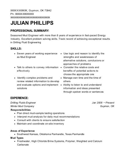 Best Drilling Fluids Engineer Resumes | ResumeHelp