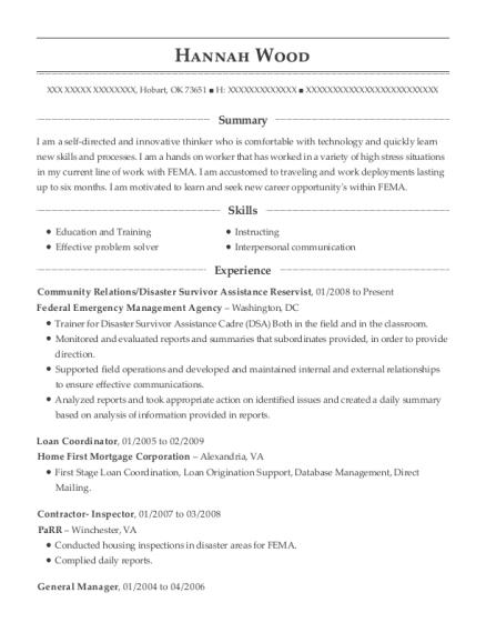 federal emergency management agency community relations