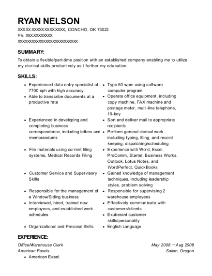 Ryan Nelson  Medical Transcriptionist Resume