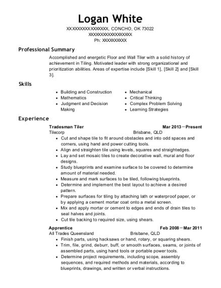 Classic Coachworks Pty Ltd Tradesman Resume Sample