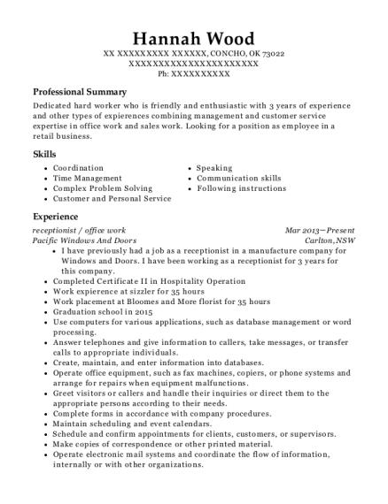 resume kitchen hand