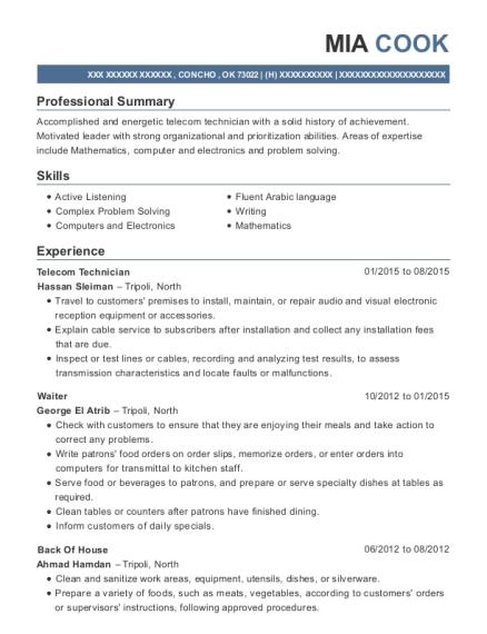 Best Telecom Technician Resumes | ResumeHelp