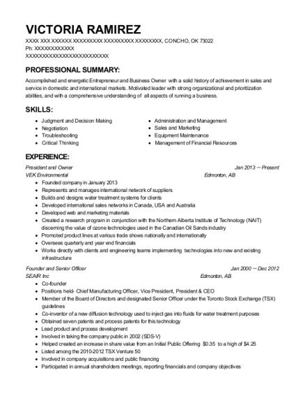 instrumentation technician resume