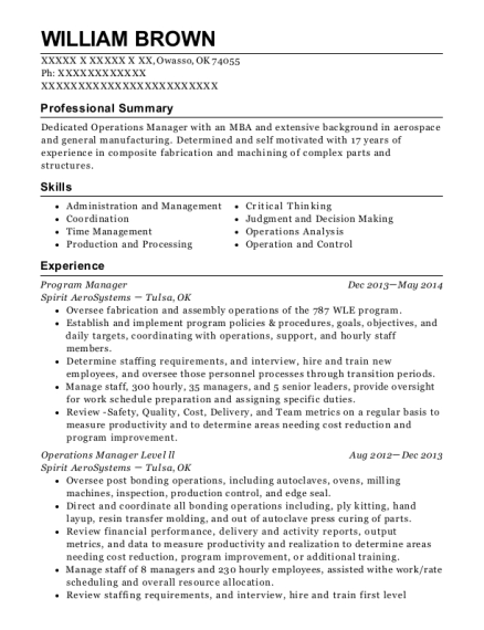 View Resume. Program Manager