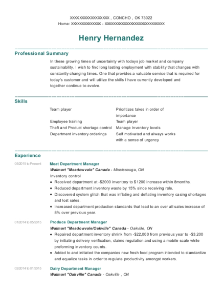 View Resume  Department Manager Resume