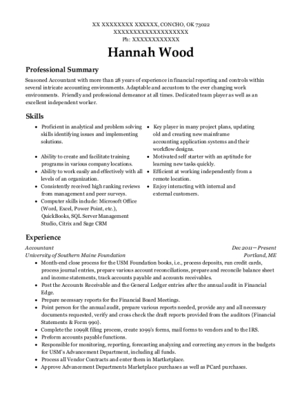Awesome Oklahoma Accounting Resume Images - Best Resume Examples by ...