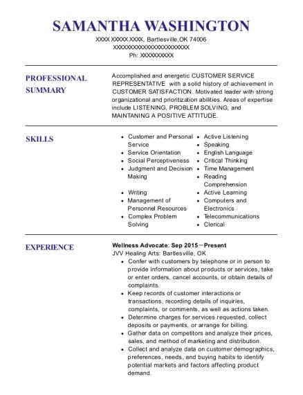 Best Wellness Advocate Resumes ResumeHelp