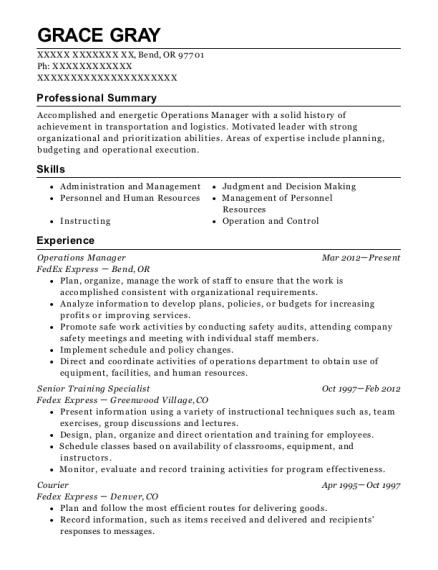 best senior training specialist resumes resumehelp