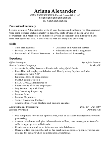 Jp Morgan Chase Administration Specialist Resume Sample - Phoenix ...