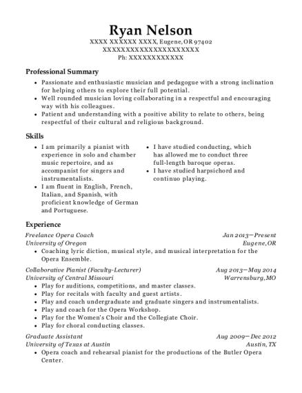 best collaborative pianist resumes resumehelp