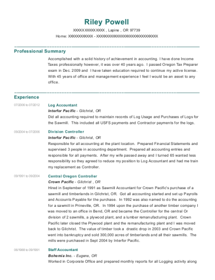 Awesome Oregon Accounting Resume Pictures - Best Resume Examples and ...