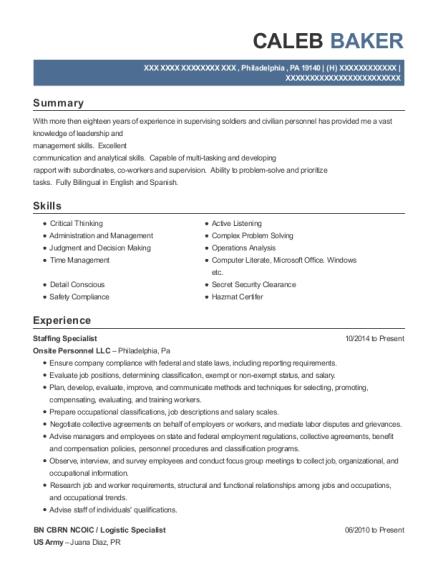 staffing specialist resume - Nadi.palmex.co