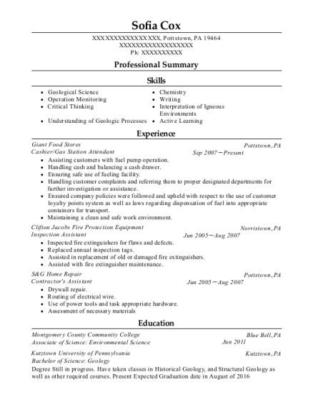 gas attendant resume - Ecza.solinf.co