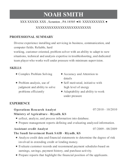 Operations Research Analyst Resume chronological operations research analyst resume Operations Research Analyst Gs 12 Customize Resume View Resume