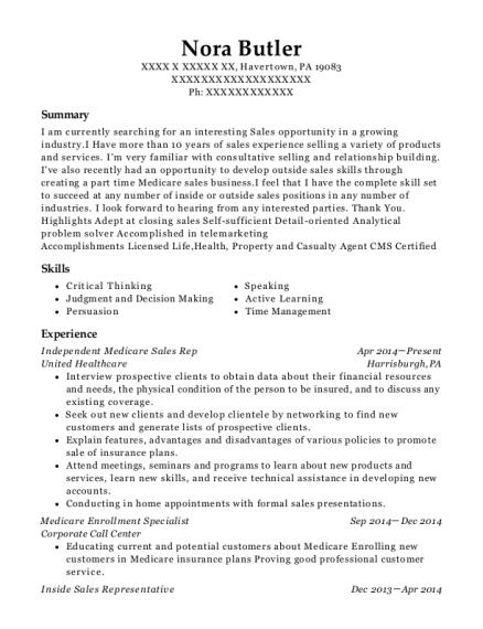 best medicare enrollment specialist resumes resumehelp