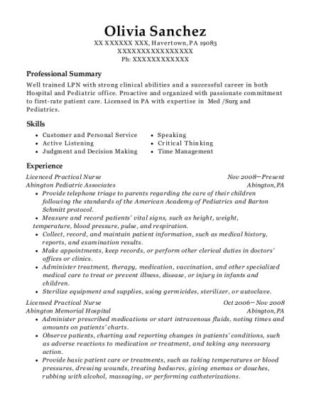 best licenced practical nurse resumes resumehelp