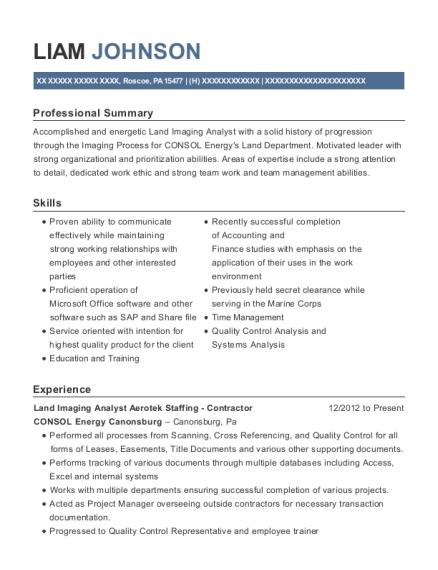 Consol Energy Canonsburg Land Imaging Analyst Aerotek Staffing ...
