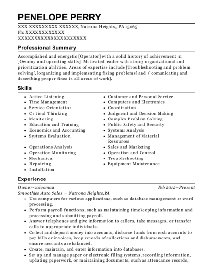 Best Controlroom Operator Resumes   ResumeHelp