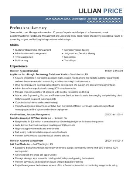 Best Vice President, Account Management Resumes | ResumeHelp