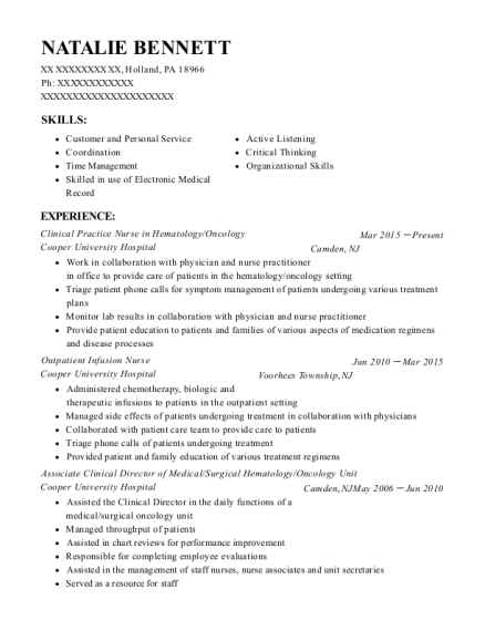 medical surgical resumes