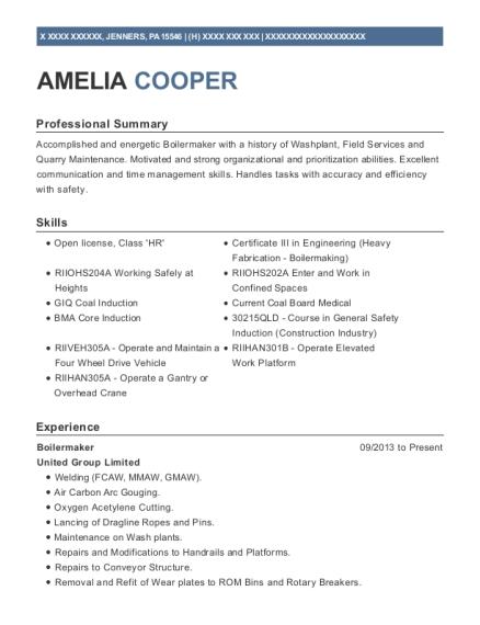 best apprentice boilermaker resumes resumehelp